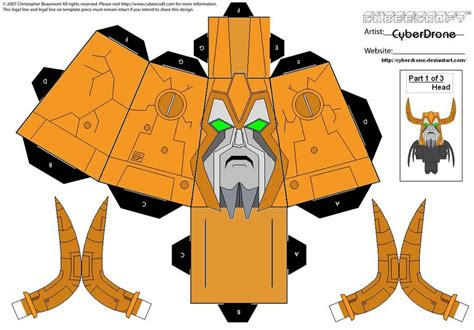 Custom Papercraft - transformers custom cubeecraft templates by cyberdrone on
