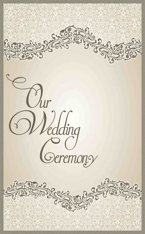 82 wedding program cover templates wedding program