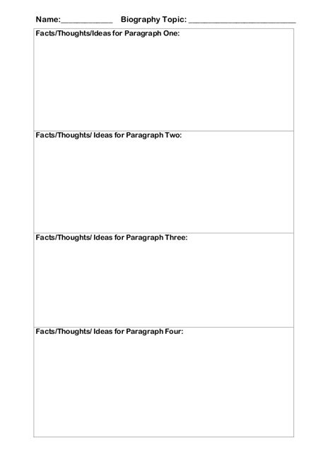 biography paragraph graphic organizer graphic organizer biography