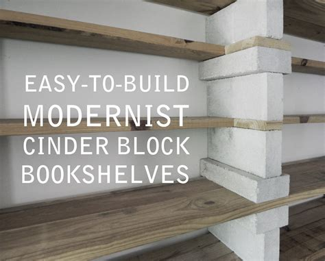 block bookshelves easy to build modernist cinder block bookshelves that