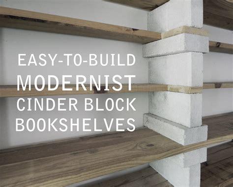 cinder block shelves easy to build modernist cinder block bookshelves that