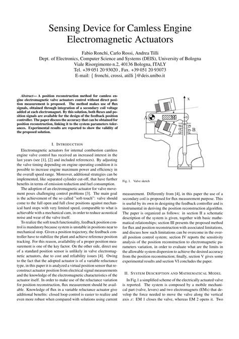 camless engine research paper sensing device for camless engine pdf available