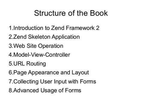 layout in zend framework 2 using zend framework 2 book presentation