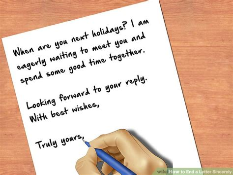Letter Closing Truly Yours How To End A Letter Sincerely 8 Steps With Pictures Wikihow