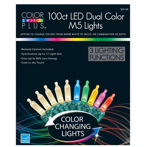 mini led christmas lights dual colors from kmart