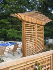 backyard trellis designs pergola trellis and evergreens arbours
