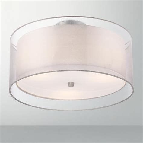 drum style ceiling light fixtures possini design drum 18 quot wide white ceiling