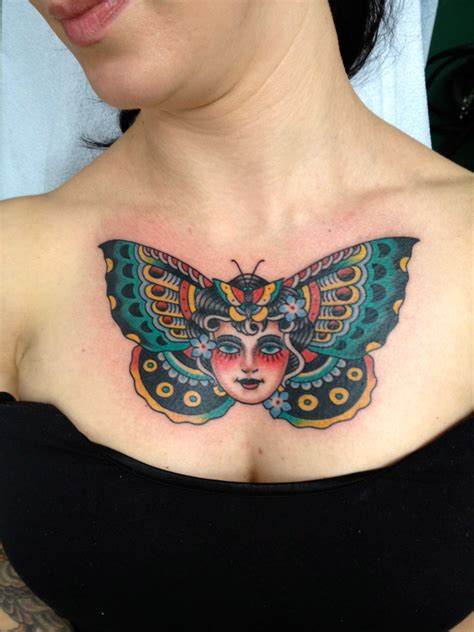 tattoo on chest for female 25 creative butterfly tattoo designs for women