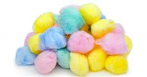 colored cotton balls
