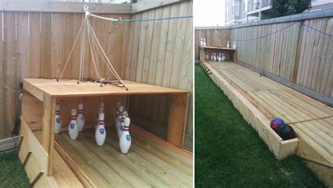 diy backyard bowling alley build a semi automatic bowling alley in your backyard