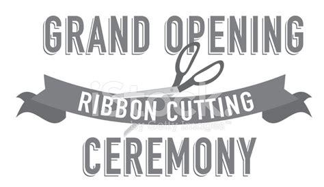 ribbon cutting template ribbon cutting word design template stock photos