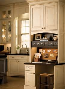 Small Desk Area In Kitchen Cabinetry Throughout The Home Home Offices Bathrooms
