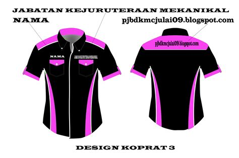 design warna baju kelas diploma kejuruteraan mekanikal baju kelas