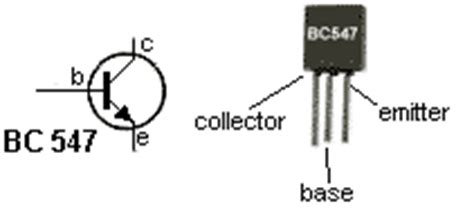 bc548 transistor legs the circuits led torch with 1 5v supply