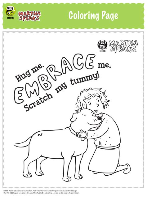 Martha Speaks Coloring Pages Free Coloring Pages