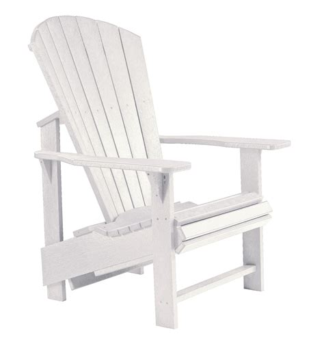 Adirondack Chair White by Generations White Upright Adirondack Chair From Cr Plastic