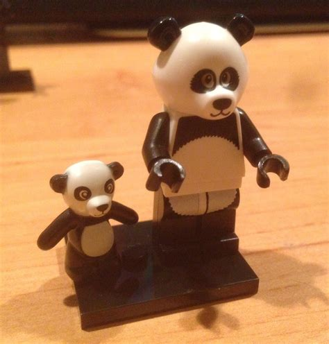Lego Minifigure Panda Suit lego minifigures series found purchased with