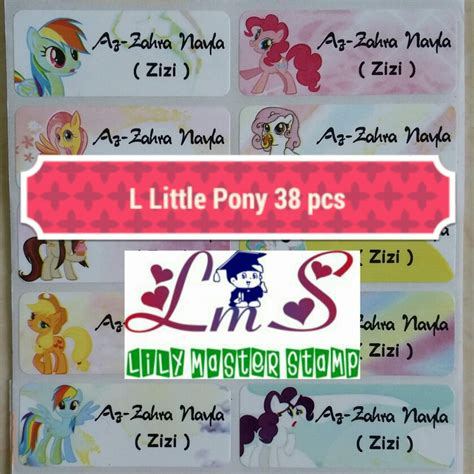 Label Nama Pony L label stiker sticker nama name waterproof anti air my
