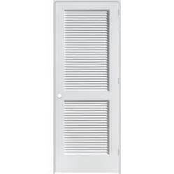 Interior Louvered Doors Shop Reliabilt Louvered Solid Pine Left Interior Single Prehung Door Common 28 In X 80 In