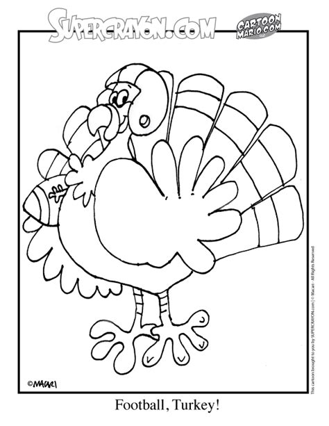 football turkey coloring page free coloring pages of turkey color by number