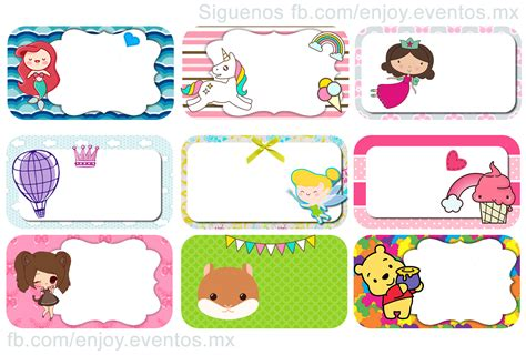 imagenes para etiquetas escolares gratis etiquetas escolares ni 241 as gratis para imprimir tienda enjoy