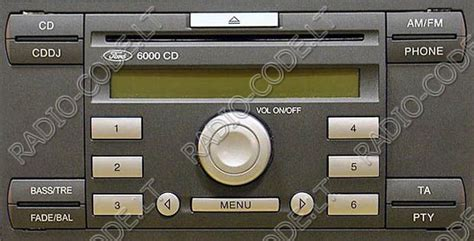 how to get radio code for ford how to get code for ford 6000 cd