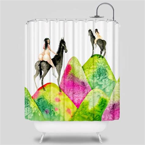 sam flores shower curtain mounds shower curtain by david choe