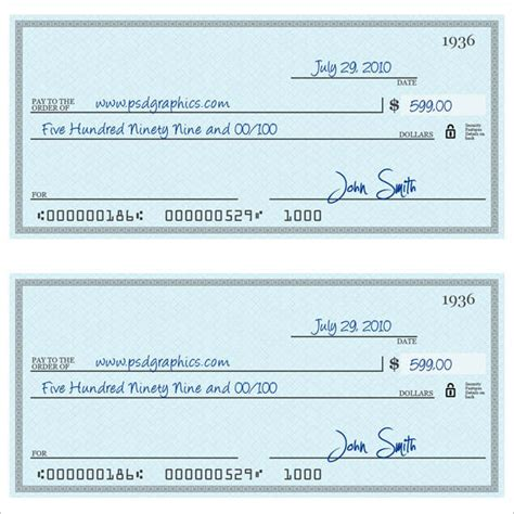 43 Cheque Templates Free Word Excel Psd Pdf Formats Check Template Word