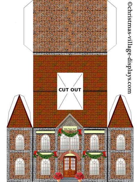 printable christmas village template 25 best ideas about paper houses on pinterest cardboard