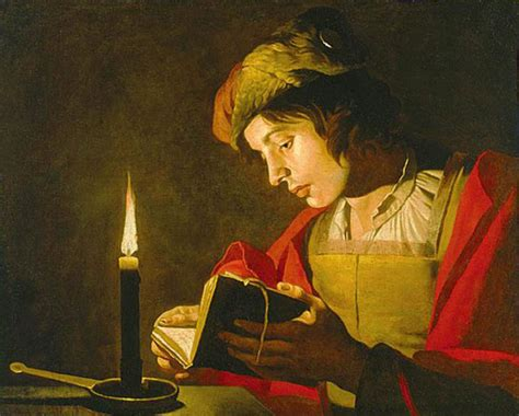 paint reader file matthias stom young man reading by candlelight jpg