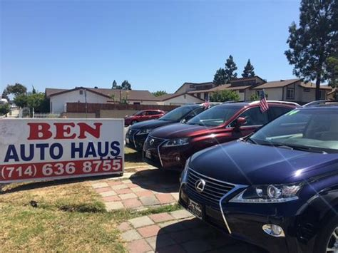 car haus ben auto haus car dealership in garden grove ca 92843
