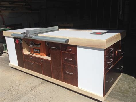 table saw cabinet mobile table saw cabinet by heisinberg lumberjocks