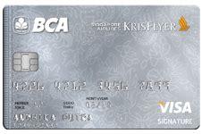 Bca Krisflyer   bca silver card fees