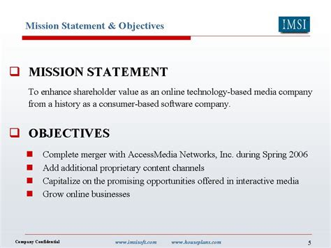 mission statement objectives slide 5