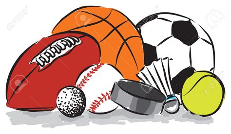 sport clipart clipart sports pencil and in color