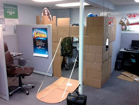 cubicle ideas for guys how to amuse yourself at work build a cubicle fort gearfuse