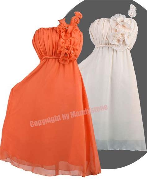 One Shoulder Flower Gown S M L 18193 unique one shoulder flower cluster bead empire waist dresses s m l xl ebay