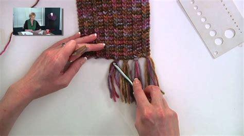 knitting  adding fringe youtube