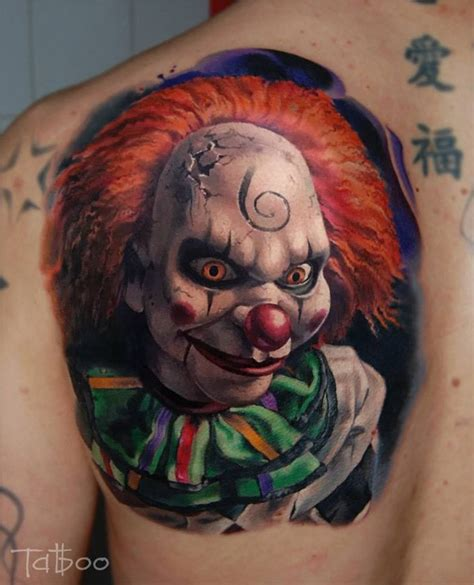 evil clown tattoos 40 best clown designs