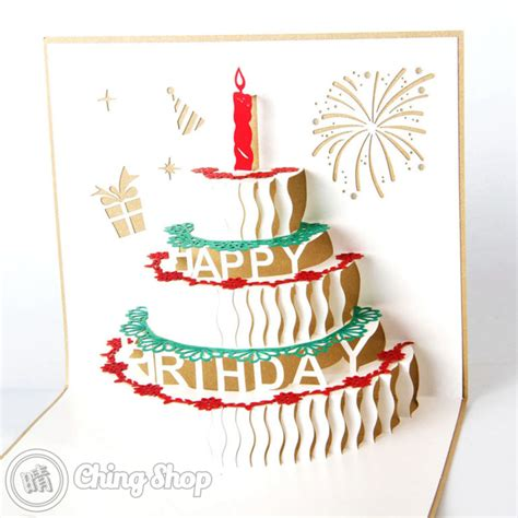 pop greeting cards happy birthday 3d pop up greeting card 163 3 95 3d