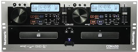 numark cdn450 pro dj rack mount dual mp3 cd player