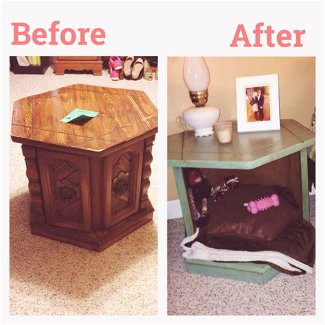 end table dog bed end table turned dog bed diy for the dogs pinterest