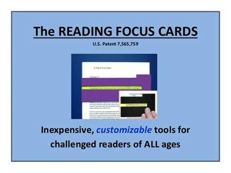 Reading Focus Card Template by 2016 Low Tech Digital Reading Focus Cards Solutions For