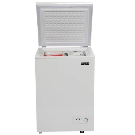 Chest Freezer Mini magic chef 3 5 cu ft chest freezer in white hmcf35w2