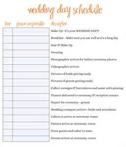 wedding day schedule of events template wedding schedule template 25 free word excel pdf psd