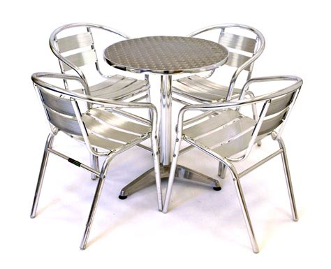 aluminum table and chairs aluminium cafe set cafe s bistro home garden be