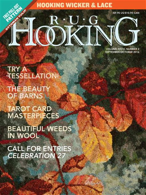 rug hooking magazine rug hooking magazine september october 2016 free us shipping