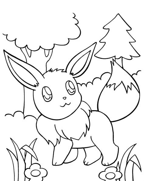 coloring pages eevee eevee coloring pages to download and print for free