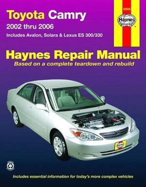 chilton car manuals free download 2007 toyota tundramax transmission control toyota camry 2002 2006 repair manual pdf kemypivaje s blog
