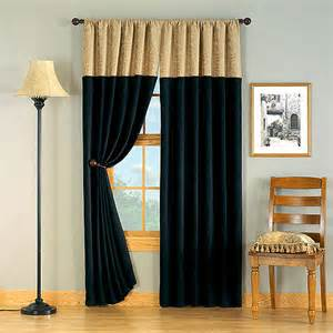 hometrends versailles chenille window curtain 1 panel black and gold decor walmart com